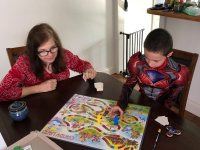 JH & Grandma Play a Rousing Game of Candyland