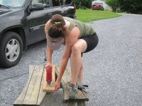 Putting together a rock sifter